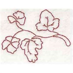 Redwork Leaves embroidery design