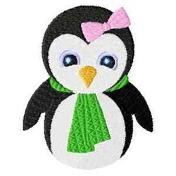 Frosty Girl Penguin embroidery design