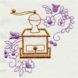 Vintage Coffee Press embroidery design