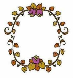 Monogram Floral Frame embroidery design