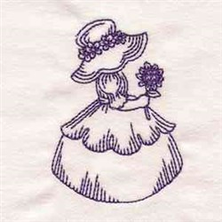Bluework Vintage Girl embroidery design