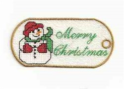 FSL Snowman Tag embroidery design
