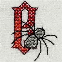 Heavy Metal Letter B embroidery design