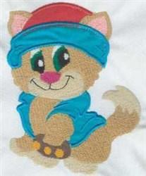 Applique Cat Attitude embroidery design