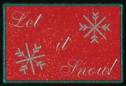Let it Snow Front embroidery design