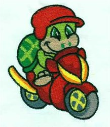 Scooter Critter embroidery design