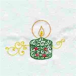 Xmas Candle embroidery design