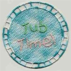 FSL Tub Time Ornament embroidery design