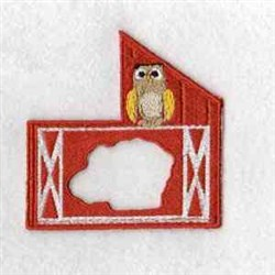 Puzzle Sheep Barn embroidery design