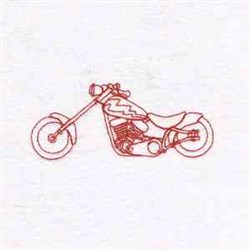 Redwork Motorbike embroidery design