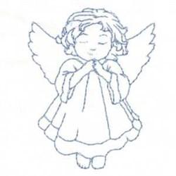 Bluework Child Angel embroidery design