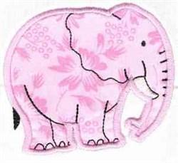 Applique Elephant embroidery design