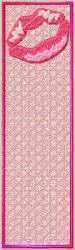 FSL Kiss Bookmark embroidery design