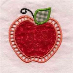 Apple Cut Out embroidery design