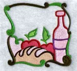 Wine Block embroidery design