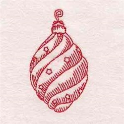 Redwork Christmas Ornament embroidery design