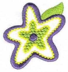 Single Flower Bloom embroidery design