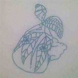 Bluework Christmas Angel embroidery design