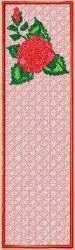 FSL Rose Bookmark embroidery design