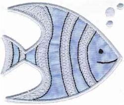 Applique Angelfish embroidery design