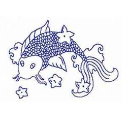 Bluework Koi Fish embroidery design