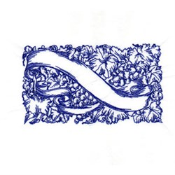 Bluework Wine embroidery design