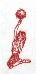 Redwork Cheerleader embroidery design