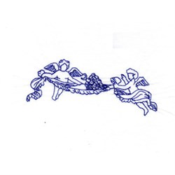 Bluework Wine and Angels embroidery design