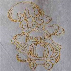 Autumn Sunbonnet Girl embroidery design