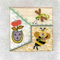 Bee Flower Quilt embroidery design