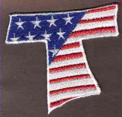 FSL Patriotic Letter T embroidery design
