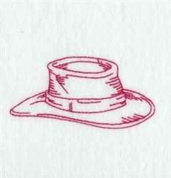 Redwork Cowboy Hat embroidery design