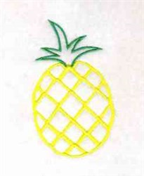 Pineapple Outline embroidery design