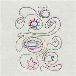 Quilt Star And Moon embroidery design