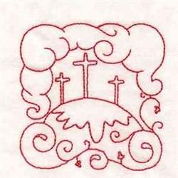 Redwork Easter Blcok embroidery design
