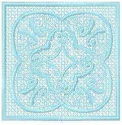 FSL Floral Block embroidery design