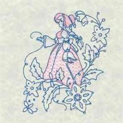 Bluework Flower Lady embroidery design