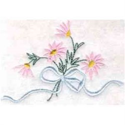 Floral Ribbon Bouquet embroidery design