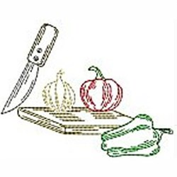 Kitchen Vegetables embroidery design