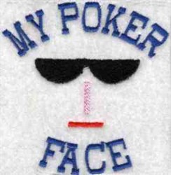 My Poker Face embroidery design