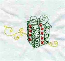 Xmas Present embroidery design