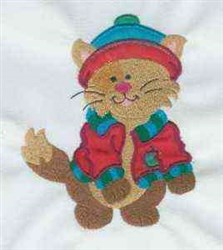 Cat Attitude embroidery design