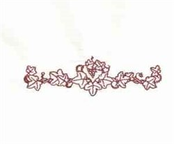 Grape Leaves embroidery design