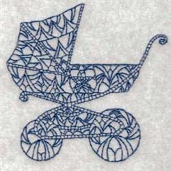 Vintage Baby Pram embroidery design