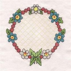 Sweet Friendship Wreath embroidery design