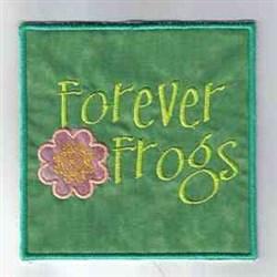 Forever Frog Windsock embroidery design