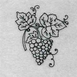 Bluework Fall Grapes embroidery design
