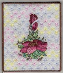 Lily Side embroidery design