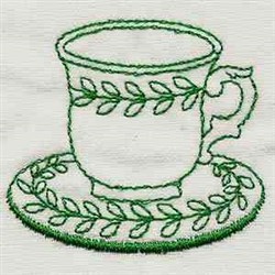 Vintage Kitchen Cup embroidery design