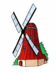 Windmill embroidery design